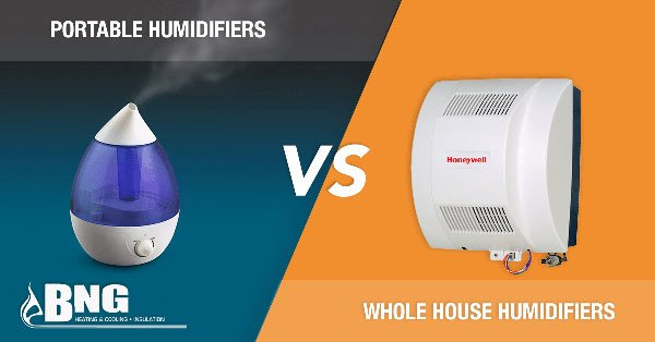Portable Humidifiers vs. Whole House Humidifiers