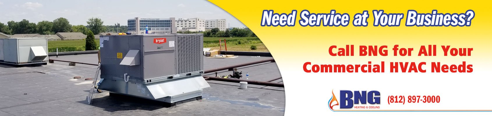 Nedd Service at Your Business? Call BNG for All Your Commercial HVAC Needs